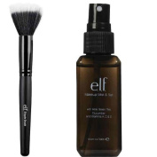 elf Makeup Mist and Set, Clear, 60ml and Stipple Brush by Unknown