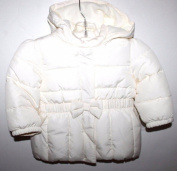 baby Gap Infant Toddler Girl's Ivory Puffer Jacket Coat with Hood