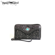 TR14-W003 Montana West Trinity Ranch Tooled Design Wallet