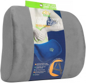 LILIYO Smart Lumbar Support Back Cushion Pillow for Lower Back Pain Relief, 3-Strap System