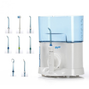 Blynx HydroClean Deep Cleaning Oral Irrigator Power Flosser with 8 Interchangeable Nozzles - Space-saving Design