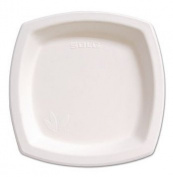 Solo 6PSC2050PK Bare Eco-Forward Dinnerware, 15cm . Plate, Ivory. 125 Per Pack