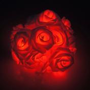 SelfTek Rose Flower Shape 20 LED Fairy Light Battery Operated for Wedding Garden Party Random Colour