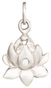 Helen Ficalora Lotus Flower Charm With Diamond