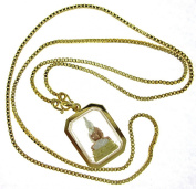 """Beautifully Detailed Thai """"Sothon"""" Buddha Amulet Pendant 18k Gold Plated with 60cm Chain"""