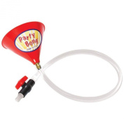 Party BongTM Large Single Beer Bong Funnel w/ Valve and 100cm Tube