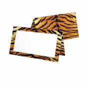 Tiger Print Place Cards - Tent Style