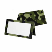 Camouflage Place Cards - Tent Style