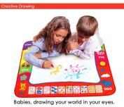 Children Aqua Doodle Drawing Toys 1 Painting Mat + 2 Water Drawing Pen Child's drawing board/drawing mat