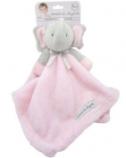 Blankets and Beyond Grey & Pink Elephant Baby Security Blanket Plush