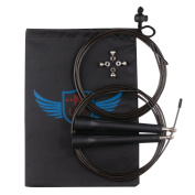 Nlife Speed Jump Rope. Premium Quality. Best for Crossfit, Boxing, MMA Training. FREE Extra Cable, Bearing Set, Carrying Bag