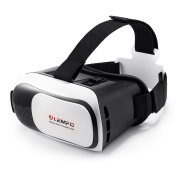LEMFO VR Case Virtual Reality Headset 3D Glasses Focal and Pupil Distance Adjustable Viewing Video Movie Game Fit for 8.9cm - 15cm Mobile Phones