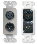 Radio Design Labs DS-XLR2 XLR 3-pin Female & 3-pin Male on Decora Wall Plate - Solder type - Stainless steel