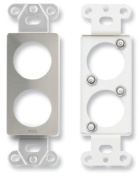 RDL DS-D2 Double plate for standard and specialty connectors