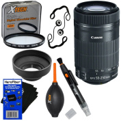 """Canon EF-S 55-250mm F4-5.6 IS """"STM"""" Lens for Canon SLR Cameras - International Version (No Warranty) + 7pc Bundle Accessory Kit w/ HeroFiber Ultra Gentle Cleaning Cloth"""