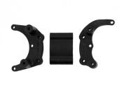 RPM #80902 Mount For A Rear Bumper Or Wheelie Bar - Black for Traxxas Rustler