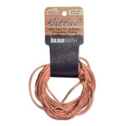 1mm Satin Rattail Braiding Cord Peach 6 Yards For Kumihimo and Craft