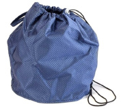 Sapphire Blue Jewel Large GoKnit Pouch Project Bag w/ Loop & Drawstring