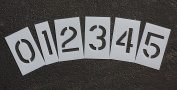 RAE - 7.6cm NUMBER KIT Plastic Paint Stencils, 0-9 numbers, for use with any paint