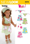 New Look Sewing Pattern 6578 Toddler Dresses, Size A