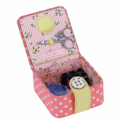Button It | Honey Pot | small coral polka dot starter kit with floral lining