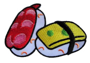 Cute Pretty Sushi Japanese Food Bags Jeans Jackets Embroidered Iron on Patch.