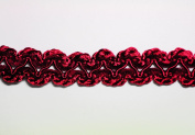 Altotux 1.9cm France Braided Trim Craft Burgundy Red Sewing Notion Embellishment by Yard