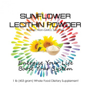Sunflower Lecithin Powder 0.5kg (470ml)- Superfood and Beneficial Lecithin Supplement - Soy Free and Non-GMO - No Side Effects - Only Enormous Health Benefits