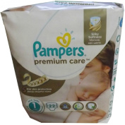 22 Pampers Nappies Premium Care Size 1, 2-5 kg, Newborns with Urine Indicator