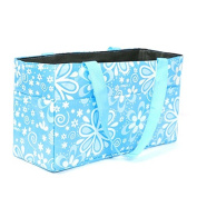 Gosear® Floral Pattern Outdoor Travel Portable Mummy Mother Baby Nappy Nappy Storage Organiser Tote Bag Handbag Cosmetic Bag Blue