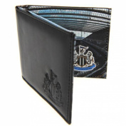 Newcastle United F.c. Leather Wallet Panoramic 801 Leather Wallet Embossed Crest Panoramic