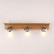 3 Lights LED Wooden Mirror Lights Lamp Creative Bedsides Wall Sconce Washroom Bathroom Wall Lamp Fixtures