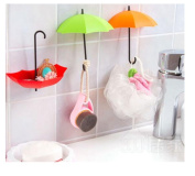 Yingwei 3pcs Creative Umbrella Wall Mount Key Holder Wall Hook Hanger Organiser