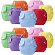 14 Pcs Baby Infant Reusable Cloth Nappy Cover Size Adjustable