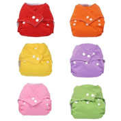 7 Pcs Baby Infant Adjustable Reusable Cloth Nappy Cover Pure Washable Nappies Size Adjustable