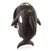 TESOON Toddler Shark Daysack Parent Safety Rein/Strap,Black