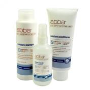 Abba Pure Moisture Trio - Shampoo 250ml, Conditioner 200ml, Leave in Treatment 125ml