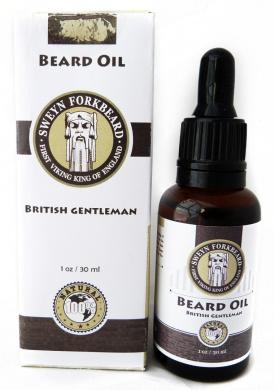 Beard Oil British Gentleman 100% Natural & Organic by Sweyn Forkbeard - A Beard Softener and Deep Conditioner For Men (30ml & 10ml) (10 ml/0.35oz Beard Oil British Gentleman)