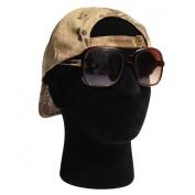 LuckyFine Male Black Styrofoam Foam Mannequin Manikin Head Model Glasses Wig Display Stand