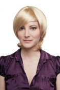 WIG ME UP ® - Lady Quality Wig short Page Bob Longbob bright blond sexy parting 2219-202