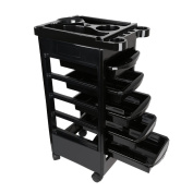 Anself Salon Hairdresser Trolley Barber Beauty Storage Hair Rolling Cart Salon Tool