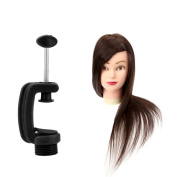 Anself 60cm Hairdressing Training Head Model with Clamp 40% Real Hair Salon Female Mannequin Head