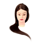 Anself Long Hair Hairdressing Mannequin Training Head with Stand Female Training Head Model
