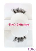 Vivi's Collection F316 Half Finest Eyelashes Black Corner False Fake Eye Lashes