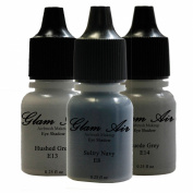 """Airbrush Make up by Glam Air """" The Navy Collection """" 3 Shades Water-Based Formula Last Over 18 Hours"""