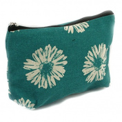 Black Ginger Lightweight Holiday / Weekend WASH BAG / Make-up Bag / Compact Toilet Bag - Gerbera