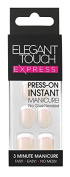 Elegant Touch Pre-Glued Express Nails, French Bare
