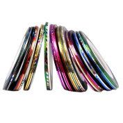 Oyedens 30 Colours Rolls Striping Tape Line Nail Art Sticker Tools Beauty Decorations