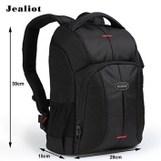 Jealiot DSLR Camera Backpack with Organiser Pockets Tripod Holder and Rain Cover for Canon Nikon Sony Pentax Olympus SLR Cameras - Life Time Warranty