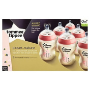 Tommee Tippee Closer to nature Pink Bottles x6